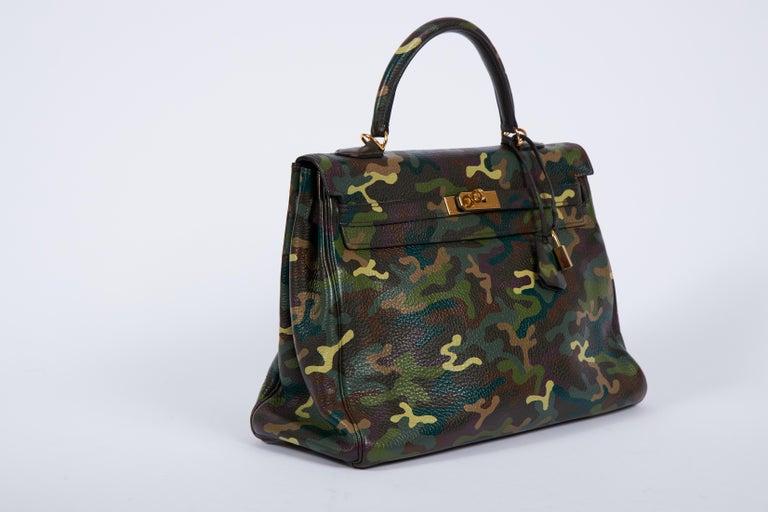 Black Hermes Olive Green Camouflage Kelly 35