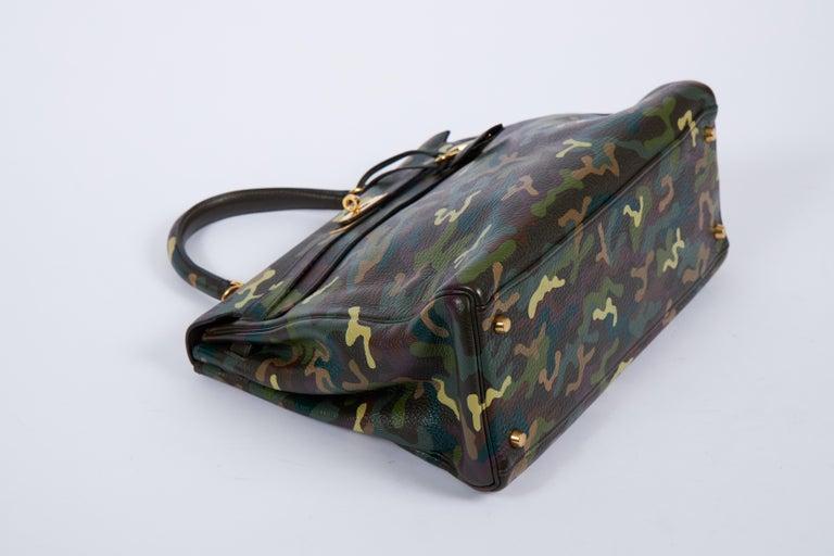 Women's or Men's Hermes Olive Green Camouflage Kelly 35