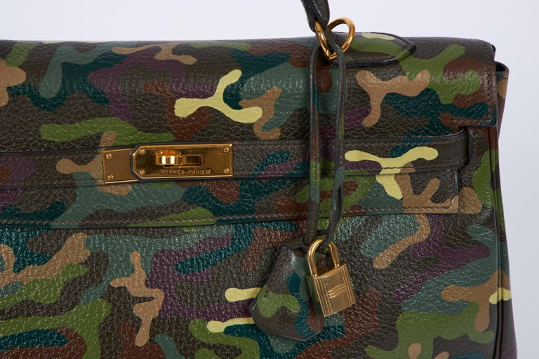 Hermes Olive Green Camouflage Kelly 35 1