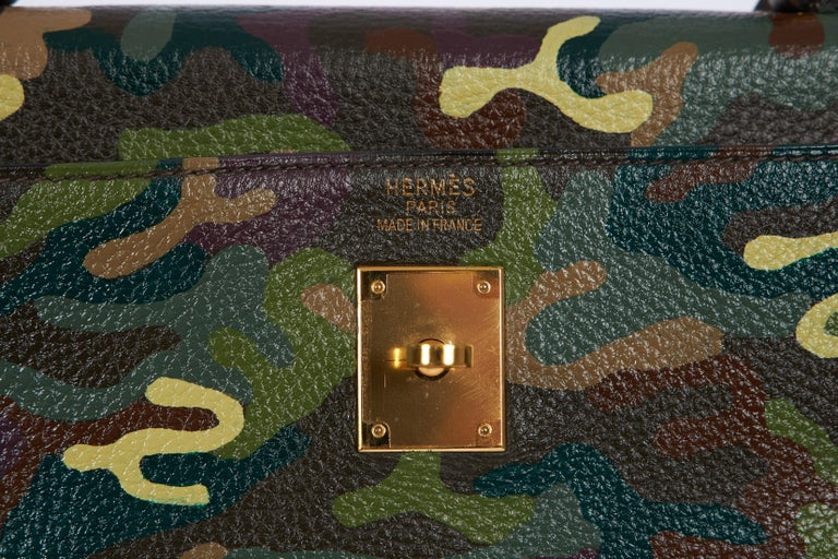 Hermes Olive Green Camouflage Kelly 35 2