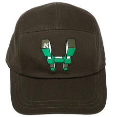 Hermes Olive Green H Odyssey Embroidered Cotton Nevada Cap Size 59