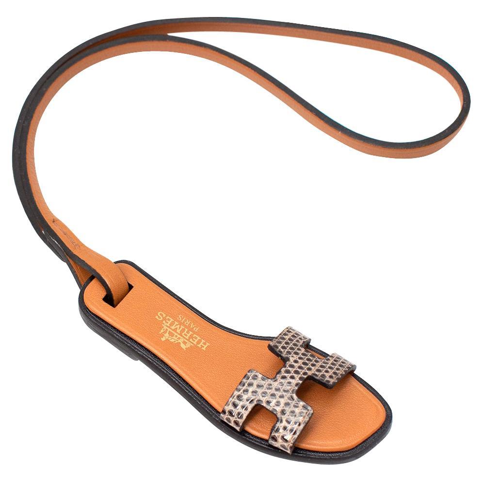 Hermes Ombre Lizard Oran Nano Charm - Rare