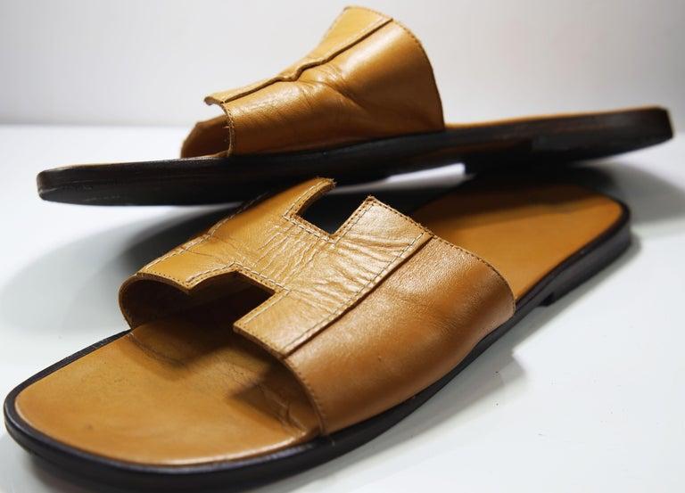 Hermes Oran Leather Slide For Sale 1