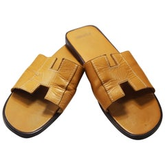 Hermes Oran Leather Slide