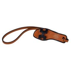 Hermes Oran Nano Bag Charm Black Epsom Leather New w/ Box