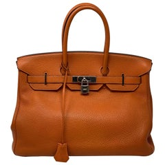 Hermes Orange Birkin 35