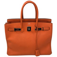 Hermes Orange Birkin 35 Togo