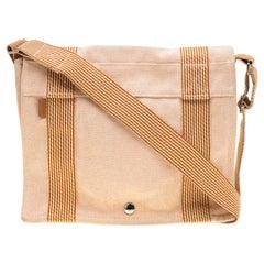 Hermes Orange Canvas Vassus Messenger Bag
