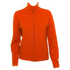 Hermes Orange Cashmere Twin Sweater Set