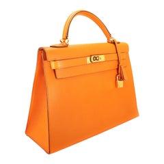 Hermès Orange Epsom 32 cm Kelly Sellier
