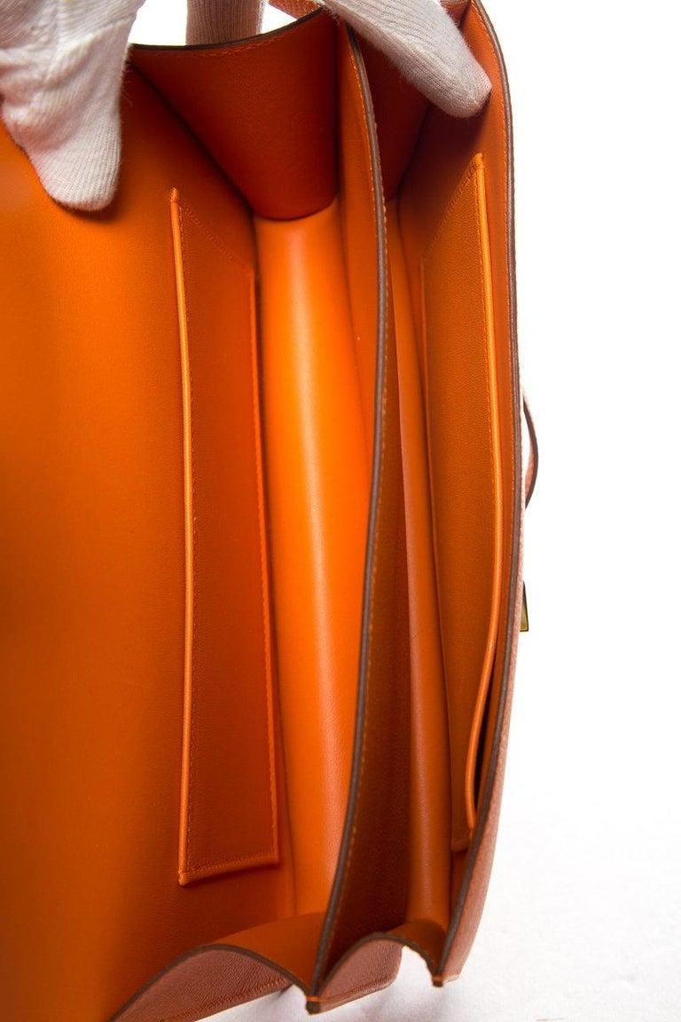 HERMÈS  Orange Epsom Constance Bag For Sale 6