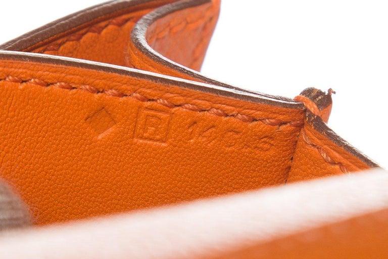 HERMÈS  Orange Epsom Constance Bag For Sale 7
