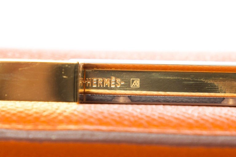 HERMÈS  Orange Epsom Constance Bag For Sale 4