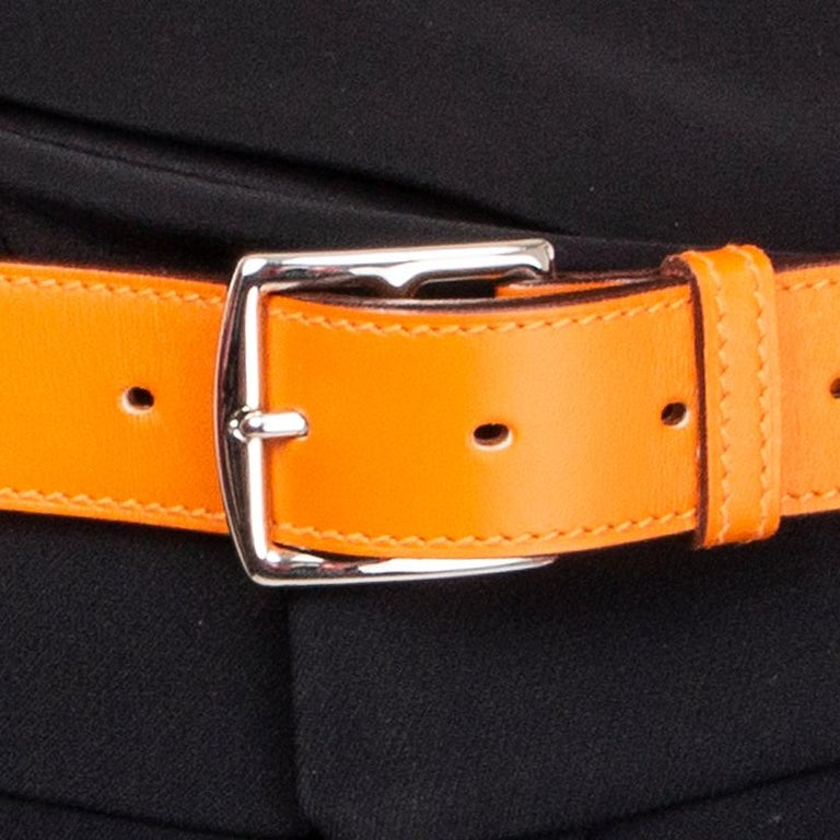 Orange HERMES orange ETRIVIER 32mm Belt 100 Chamonix For Sale