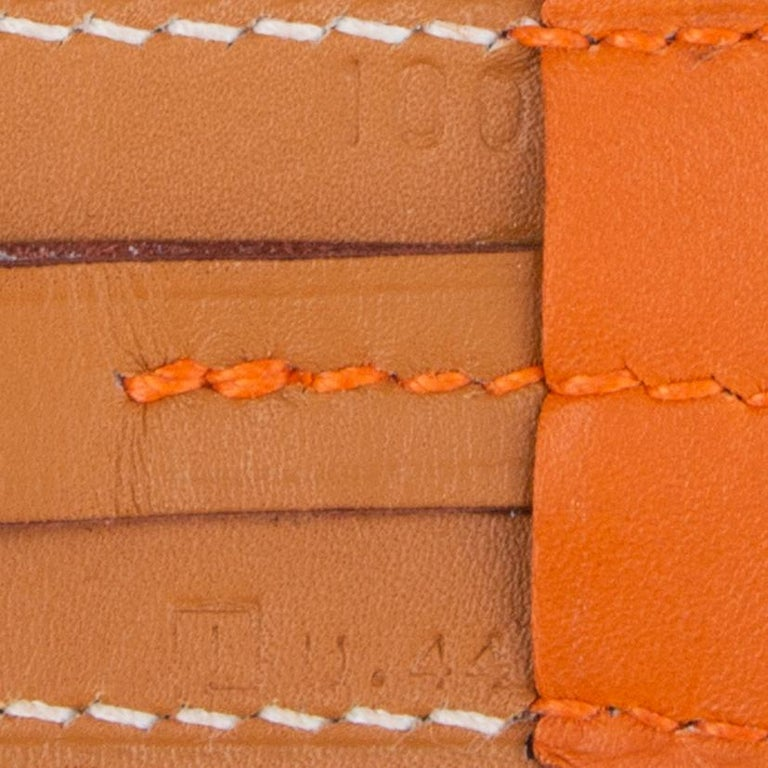 Women's or Men's HERMES orange ETRIVIER 32mm Belt 100 Chamonix For Sale