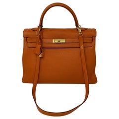 Hermes Orange Kelly 35 Bag