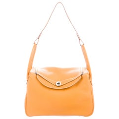Hermes Orange Leather Carryall Large Hobo Top Handle Shoulder Bag in Box