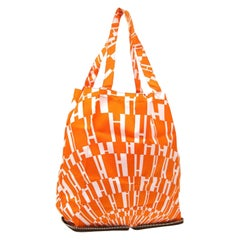 Hermes Orange Men's Women's Beach Travel Foldable Shoulder Carryall Tote Bag