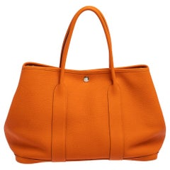 Hermes Orange Negonda Leather Garden Party 36 Bag