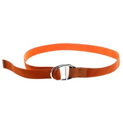 Hermes Orange Nylon Belt Size 112 CM