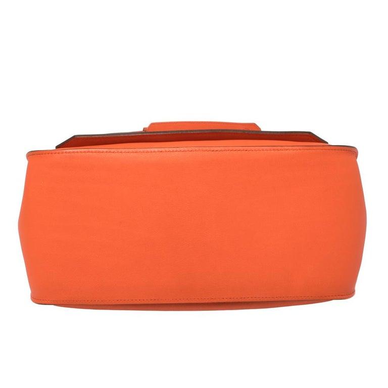 Hermes Orange Poppy Swift Leather Palladium Hardware Jypsiere 28 Bag For Sale 9
