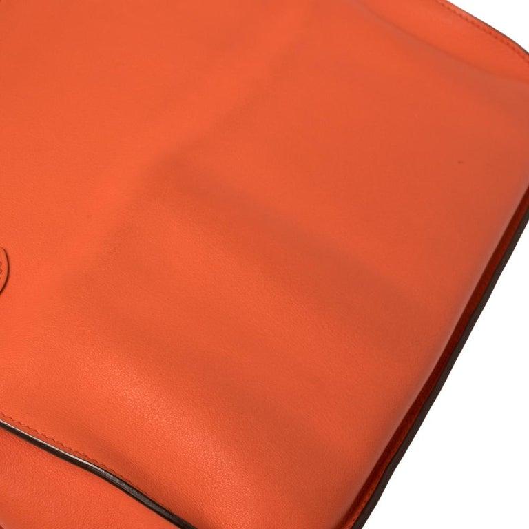 Hermes Orange Poppy Swift Leather Palladium Hardware Jypsiere 28 Bag For Sale 1