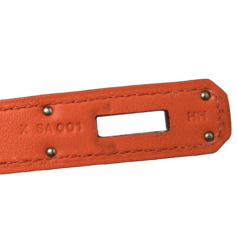 Hermes Orange Poppy Swift Leather Palladium Hardware Jypsiere 28 Bag For Sale 3