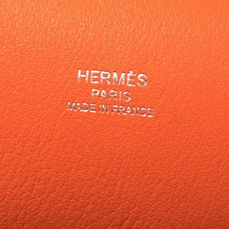Hermes Orange Poppy Swift Leather Palladium Hardware Jypsiere 28 Bag For Sale 4