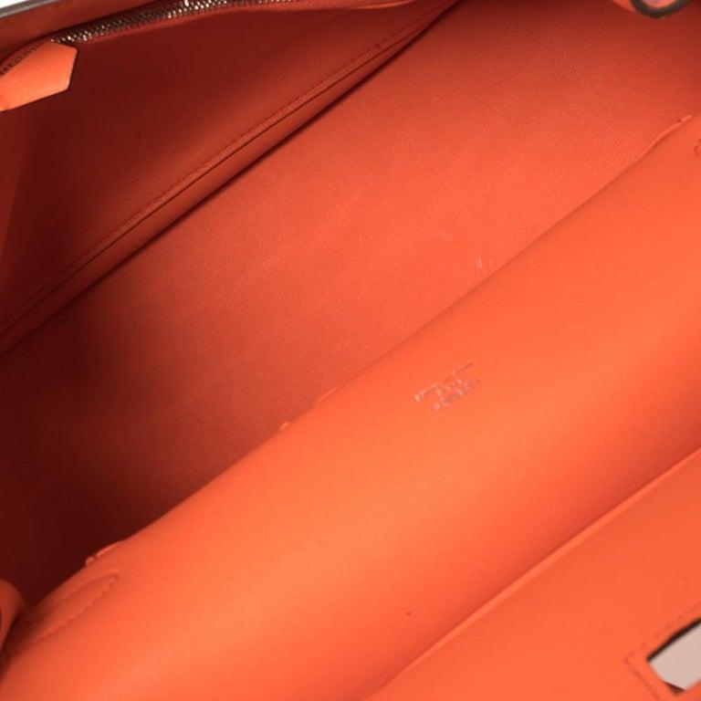 Hermes Orange Poppy Swift Leather Palladium Hardware Jypsiere 28 Bag For Sale 5