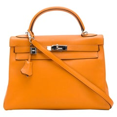 Hermès Orange Swift 32cm Kelly Bag