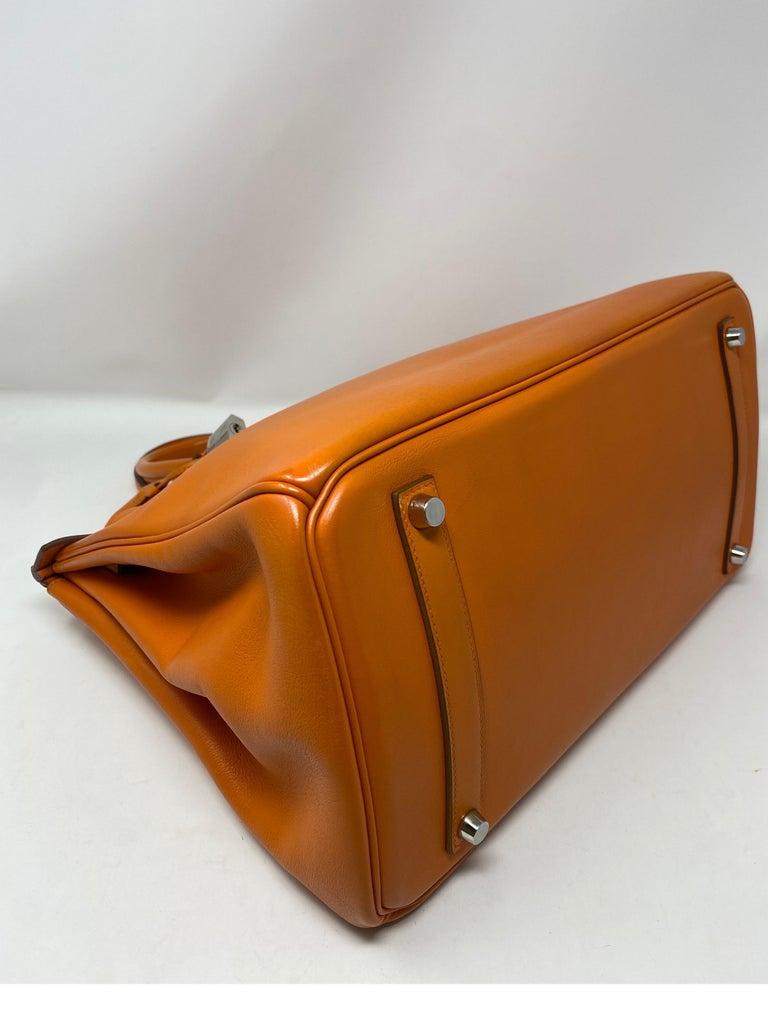 Hermes Orange Swift Birkin 35 Bag For Sale 6