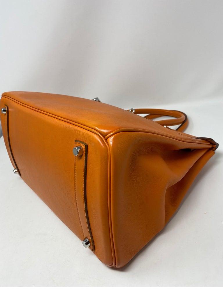 Hermes Orange Swift Birkin 35 Bag For Sale 7