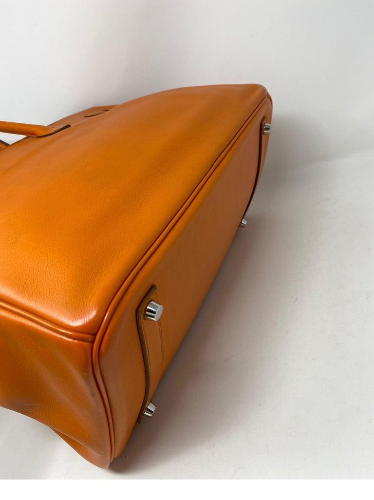 Hermes Orange Swift Birkin 35 Bag For Sale 8