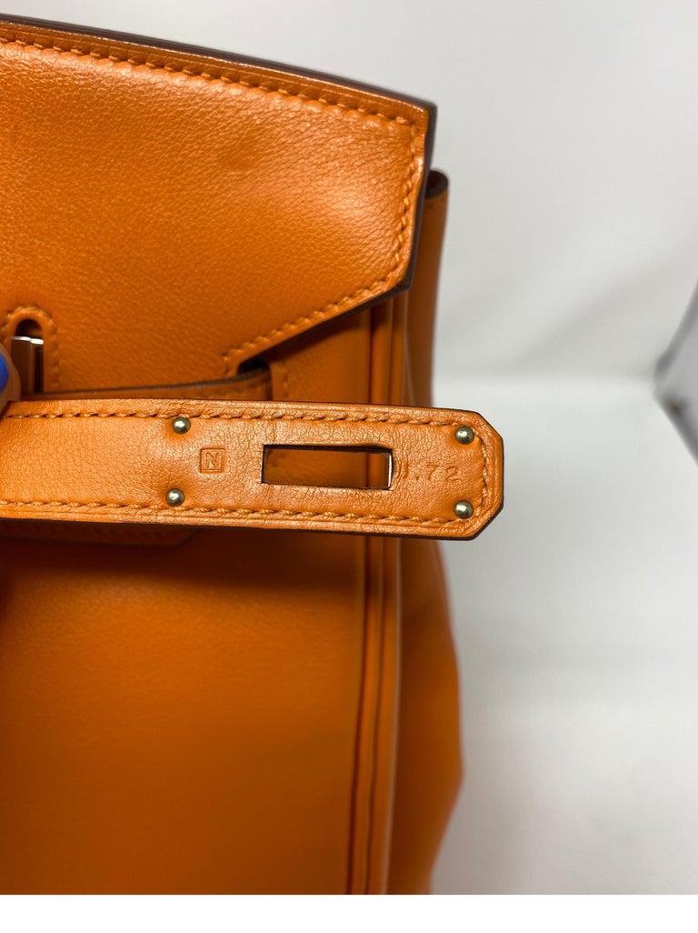 Hermes Orange Swift Birkin 35 Bag For Sale 10
