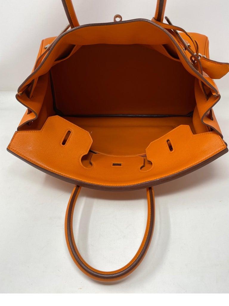 Hermes Orange Swift Birkin 35 Bag For Sale 11