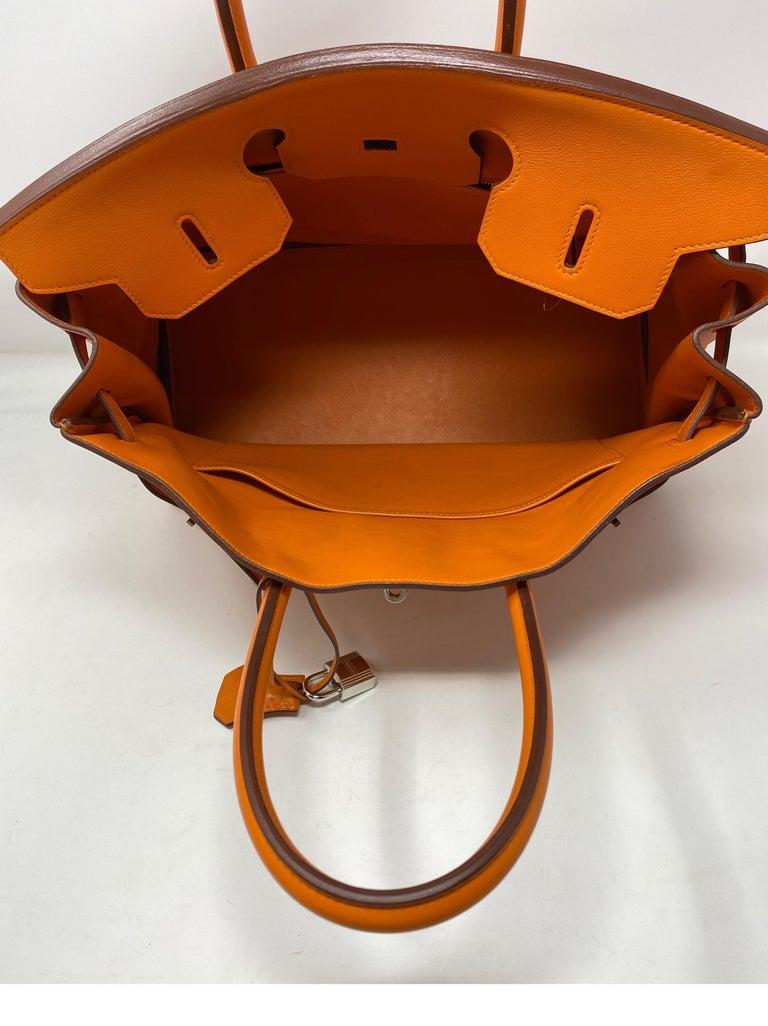 Hermes Orange Swift Birkin 35 Bag For Sale 13