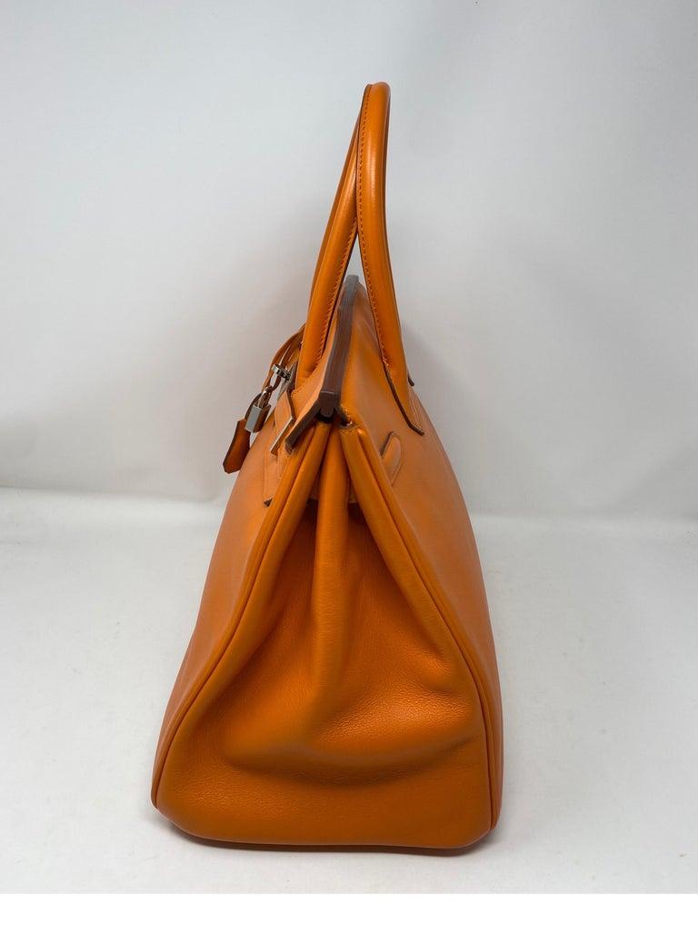 Women's or Men's Hermes Orange Swift Birkin 35 Bag For Sale