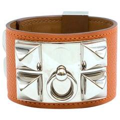 Hermes Orange Swift Collier de Chien CDC Bracelet