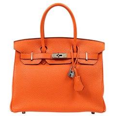 Hermès Orange Togo 30 cm Birkin Bag