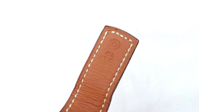 Brown Hermès Ornament for Hermès Skirt or Belt Mors et Filet Ghw Gold Leather RARE For Sale
