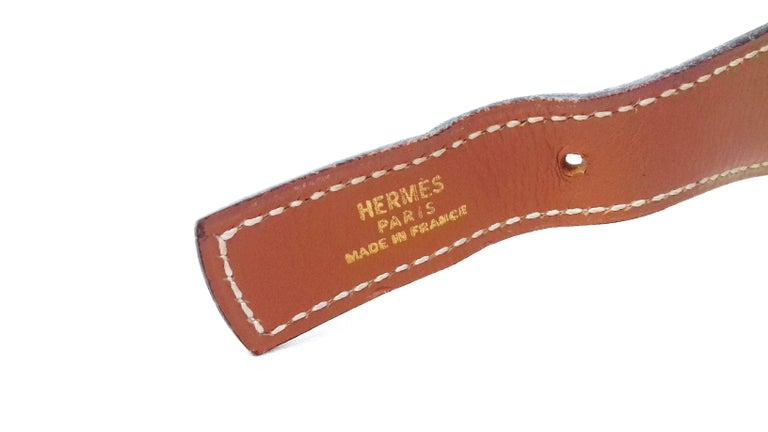 Women's Hermès Ornament for Hermès Skirt or Belt Mors et Filet Ghw Gold Leather RARE For Sale