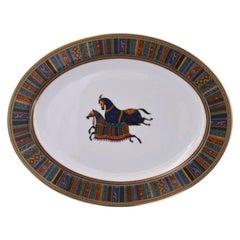 """Hermès, Oval Porcelain Dish Collection """"Cheval d'Orient"""""""