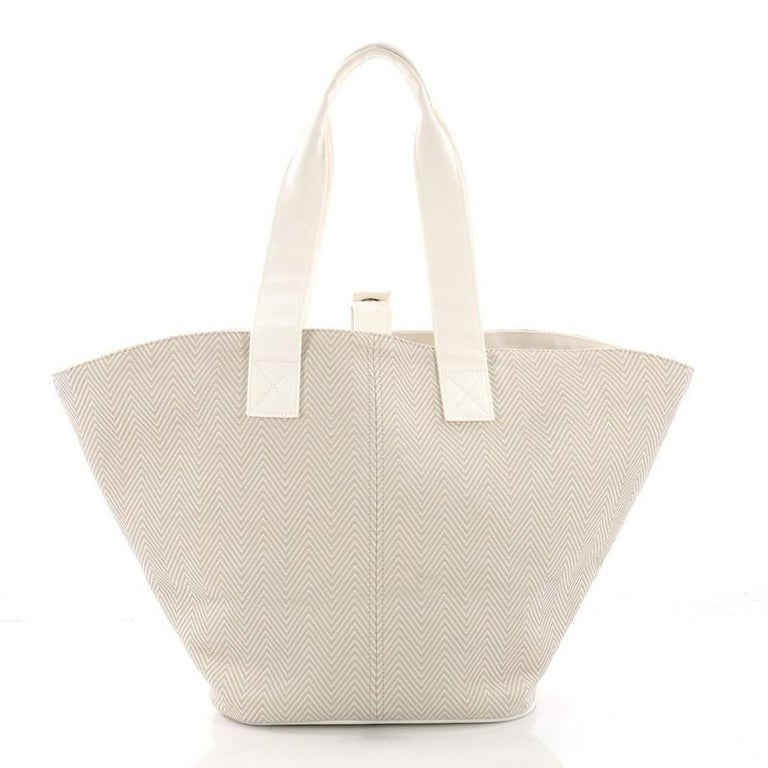 Hermes Panier De Plage Handbag Canvas PM In Good Condition For Sale In New York, NY