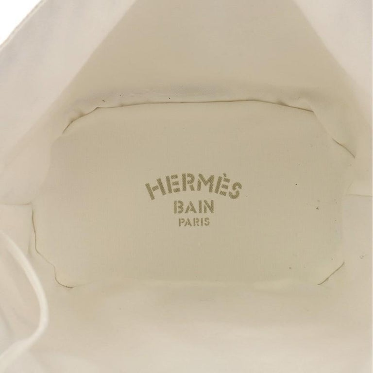 Hermes Panier De Plage Handbag Canvas PM For Sale 1