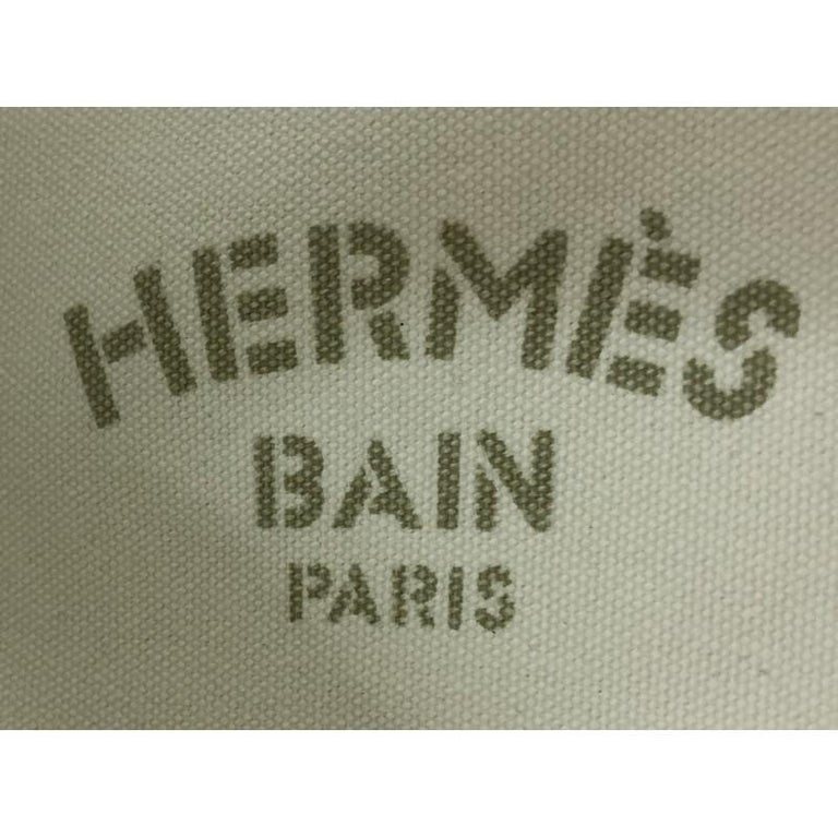 Hermes Panier De Plage Handbag Canvas PM For Sale 3