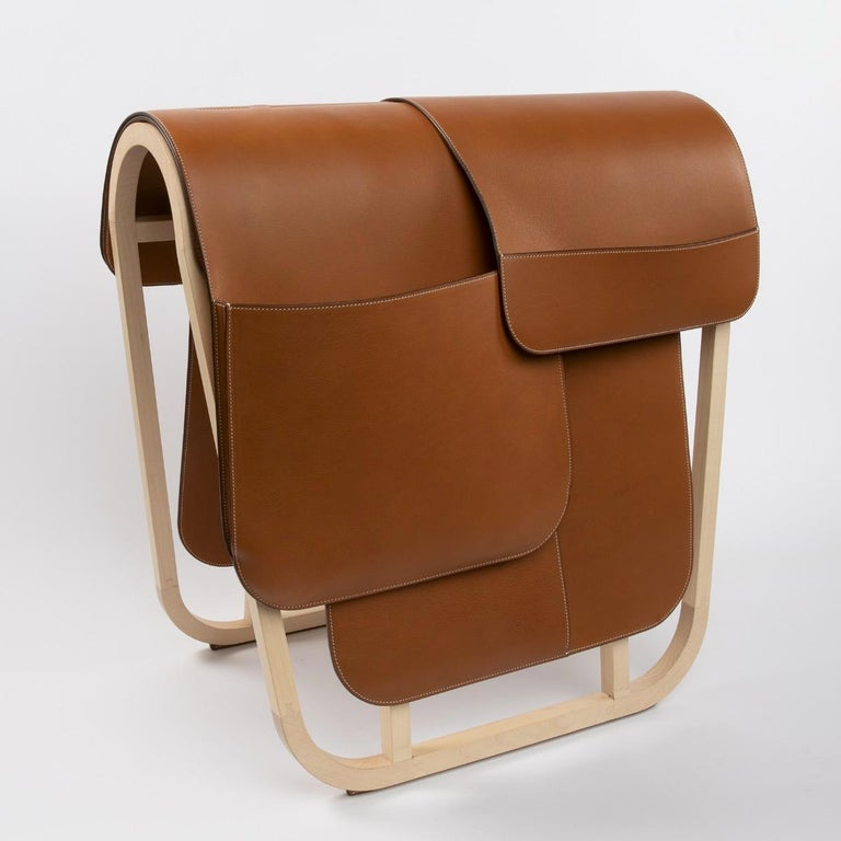 French Hermès Paris, a Magazine Rack from the