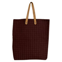 Hermes Paris Brown Canvas Ahmedabad GM Tote Bag Handbag