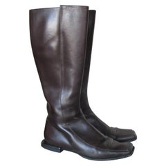 HERMES Paris Brown Leather Boots