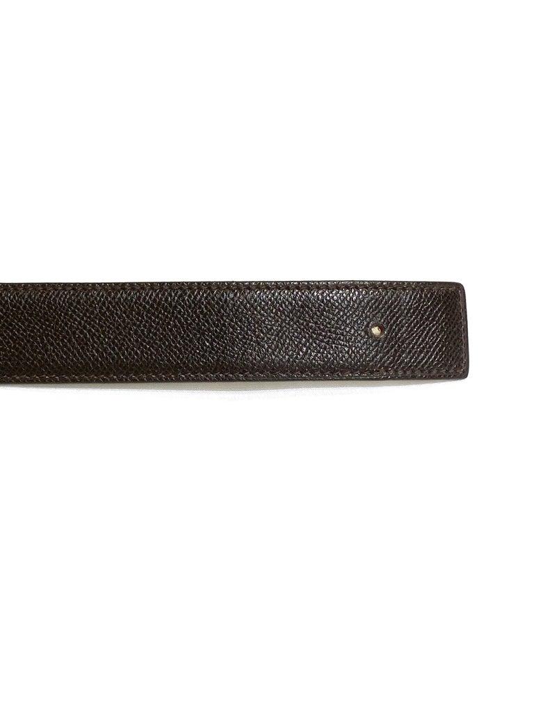 Hermes Paris Brown Leather Strap Belt Size  For Sale 1