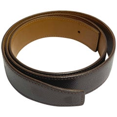 Hermes Paris Brown Leather Strap Belt Size